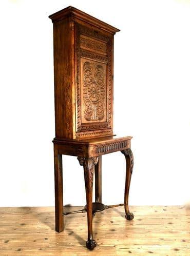 Antique 19th Century Wooden Oak Buffet Mechelen Storage Cabinet / Cupboard